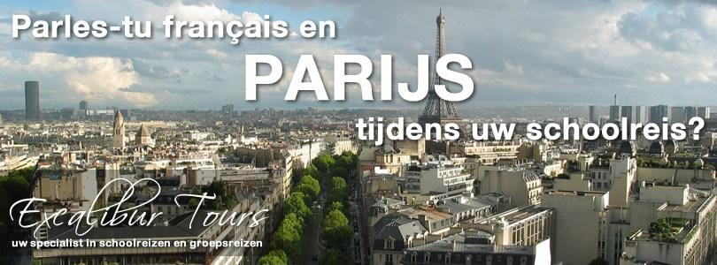 Parles-tu français em Parijs tijdens uw schoolreis?