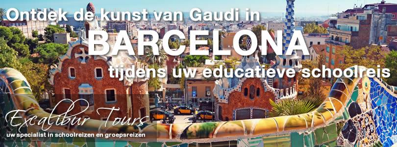 Ontdek de kunst van Gaudi in Barcelona tijdens uw educatieve schoolreis